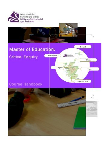 Masters of Education Critical Enquiry Course Handbook.pd