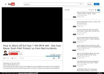 How to Ward off Evil Eye ? See how Nazar Dosh Potli Protect us from Bad Incidents