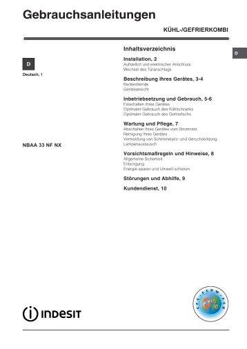 KitchenAid NBAA 33 NF NX - Refrigerator - NBAA 33 NF NX - Refrigerator DE (F053884) Istruzioni per l'Uso