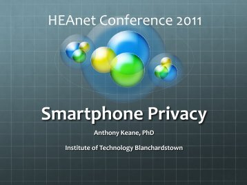 Smartphone Privacy - HEAnet