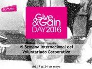 VI Semana Internacional del Voluntariado Corporativo