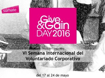 VI Semana Internacional del Voluntariado Corporativo