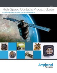 High-Speed Contacts Product Guide