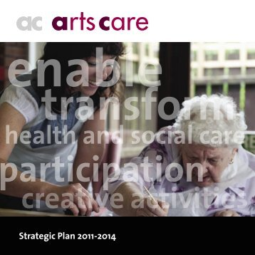 strategic aims - Arts Care