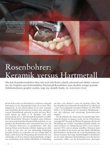 Rosenbohrer: Keramik versus Hartmetall