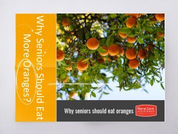 Why Seniors Should Eat More Oranges?