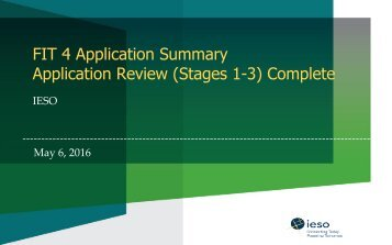 Application Review (Stages 1-3) Complete