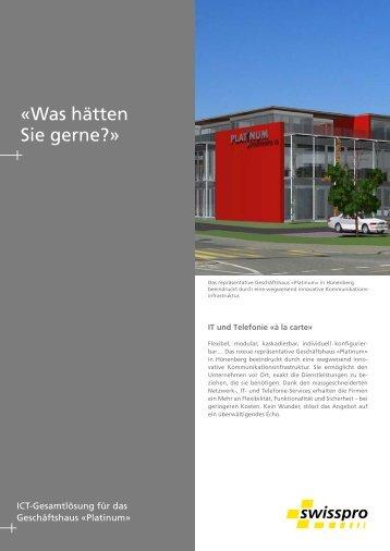 mehr...(pdf) - Swisspro