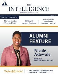 May 2016 INROADS NEWSLETTER