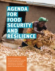 AGENDA FOR FOOD SECURITY AND RESILIENCE