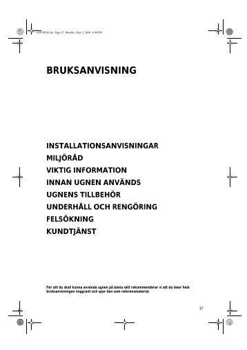 KitchenAid 501 506 19 - Oven - 501 506 19 - Oven SV (857921501030) Istruzioni per l'Uso
