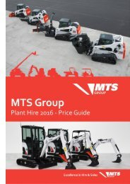 MTS Group Plant Hire Price Guide 2016