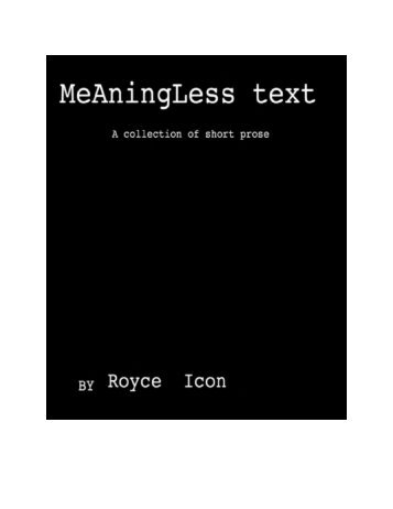 Meaningless Text