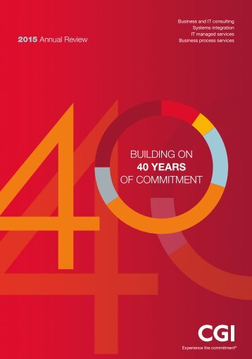 BUILDING ON 40 YEARS OF COMMITMENT