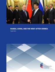 RUSSIA CHINA AND THE WEST AFTER CRIMEA