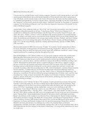 BRIAN KEANE Short Bio 2012 Veteran musician, multiple Emmy ...