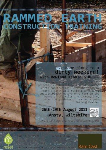CONSTRUCTION TRAINING - Earth Building UK