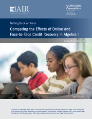 Comparing the Effects of Online and Face-to-Face Credit Recovery in Algebra I