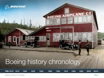 Boeing history chronology