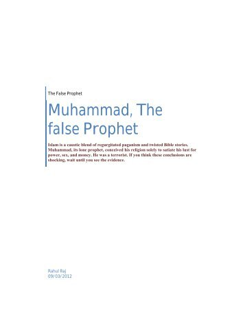 Muhammad the false Prophet