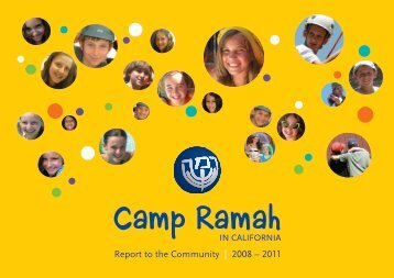Report to the Community | 2008 – 2011 - Camp Ramah
