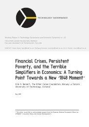 Erik S. Reinert, Financial Crises, Persistent Poverty, and
