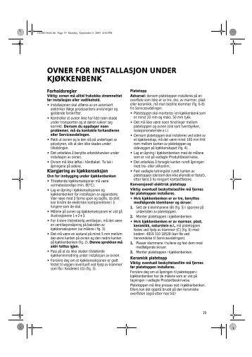 KitchenAid 301 230 14 - Oven - 301 230 14 - Oven NO (857921501000) Installazione