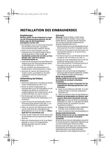 KitchenAid 301 230 14 - Oven - 301 230 14 - Oven DE (857921501000) Installazione