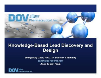 Knowledge-Based Lead Discovery and Design