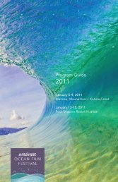 program guide 2011 - Waimea Ocean Film Festival