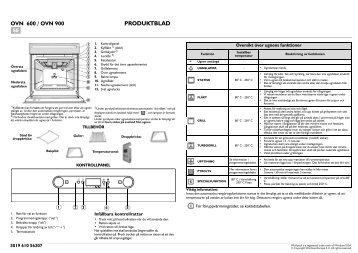 KitchenAid 201 237 45 - Oven - 201 237 45 - Oven SV (857922001000) Scheda programmi