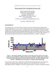 Measuring the Flow Through the Kerama Gap - University of Rhode ...