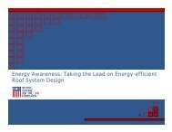 Energy Awareness: Taking the Lead on Energy-efficient Roof ...
