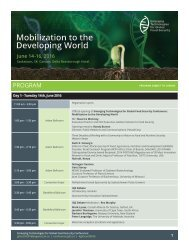 Mobilization to the Developing World