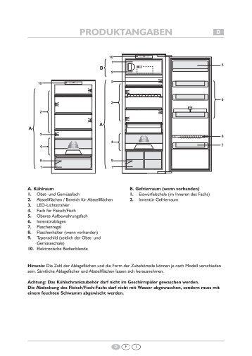 KitchenAid 911.4.02 - Refrigerator - 911.4.02 - Refrigerator EUR (855164116010) Scheda programmi