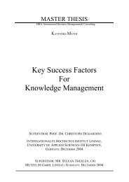 Key Success Factors For Knowledge Management - KnowledgeBoard
