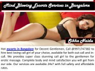 Mind Blowing Escorts Services in Bangalore