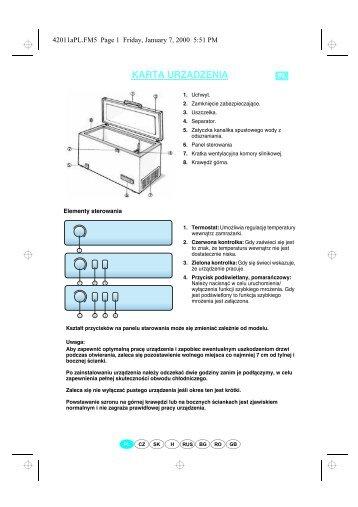 KitchenAid ZC 265 - Freezer - ZC 265 - Freezer PL (850793910000) Scheda programmi