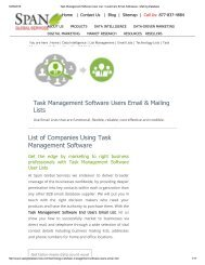 Task Management Software Clients' List we provide is all inclusive and comprehensive marketing platform