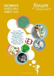 Herbst 2016 Sachbuch forum independent Programmvorschau