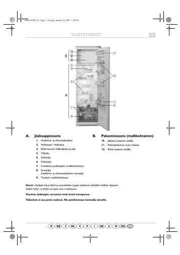 KitchenAid 831202 - Refrigerator - 831202 - Refrigerator FI (855162616010) Scheda programmi