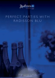 PERFECT PARTIES WITH RADISSON BLU
