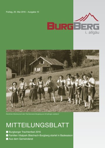 Burgberger Mitteilungsblatt Nr10/2016