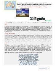 Uni –Capitol Washington Internship Programme - University of ...