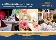 Hotel & Restaurant Ostseeland Broschuere Feste & Feierlichkeiten
