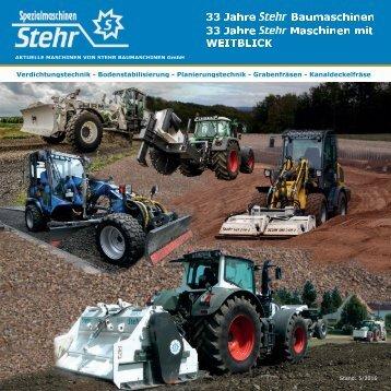 Stehr Baumaschinen GmbH Portfolio 2016