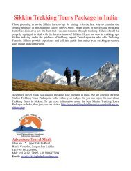 Sikkim Trekking Tours Package in India