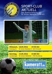 Sport Club Aktuell - Ausgabe 28 - 22.05.2016 - FSV Duisburg