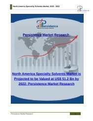North America Speciality Solvents Market, 2016 - 2022