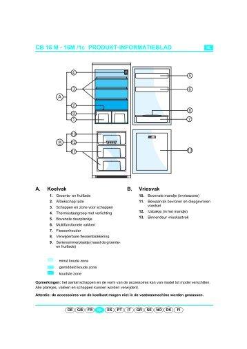 KitchenAid 900 244 50 - Fridge/freezer combination - 900 244 50 - Fridge/freezer combination NL (853970201030) Scheda programmi